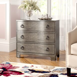 Charlesworth Traditional Style and Vintage Glam Influence 3 Drawer Accent Chest ByHouse of Hampton