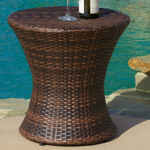 Grayling Wicker Side Table by Beachcrest Home