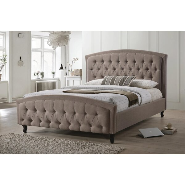 Hollo Modern Queen Upholstered Platform Bed by Rosdorf Park