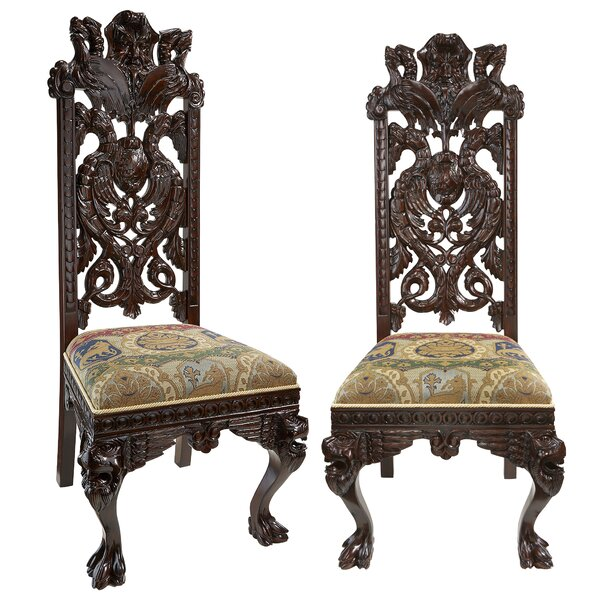 Knottingley Manor Upholstered Dining Chair (Set of 2) by Design Toscano