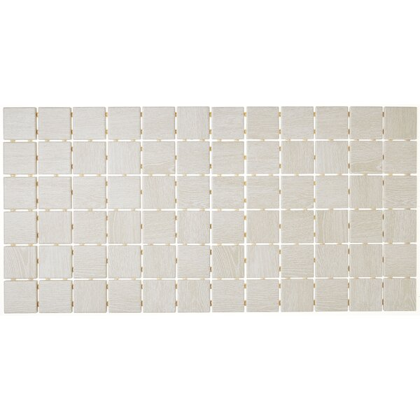 2 x 2 Ceramic Mosaic Tile in Ash White by Itona Tile