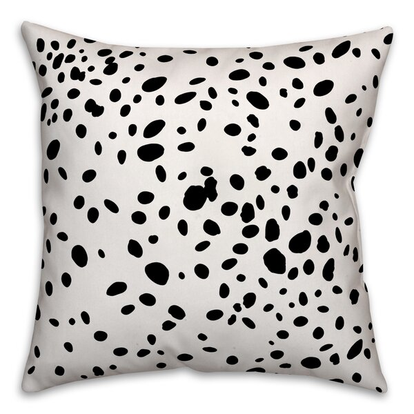 Corrales Dalmatian Spots Throw Pillow by Ivy Bronx