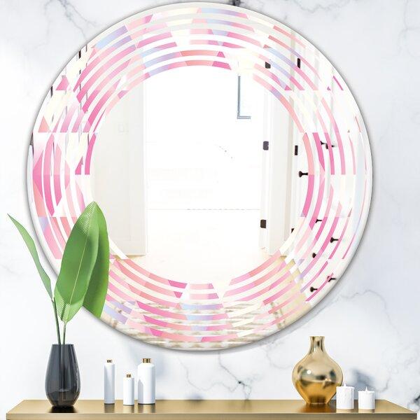 Wave Diamond VI Modern Wall Mirror
