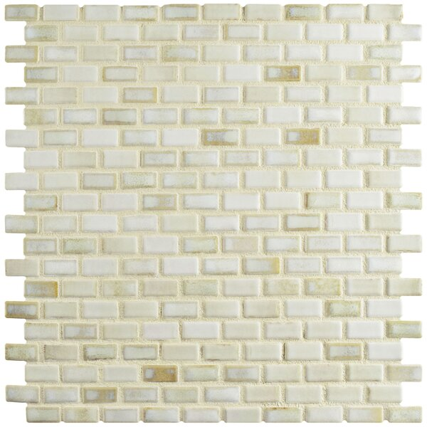 Arcadia 0.5 x 1 Porcelain Mosaic Tile in Glacier by EliteTile