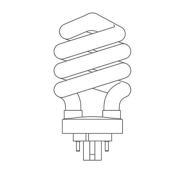 Spiral Lamp Bulb 2 by Forte Lighting