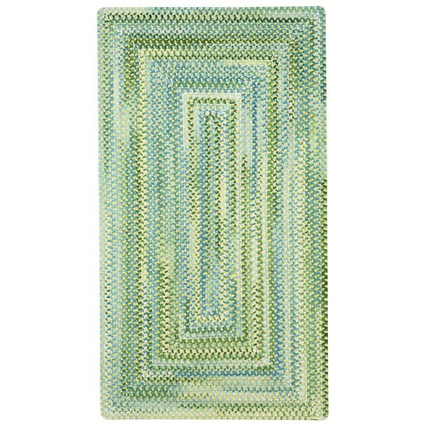 Celise Green/White Area Rug by Beachcrest Home