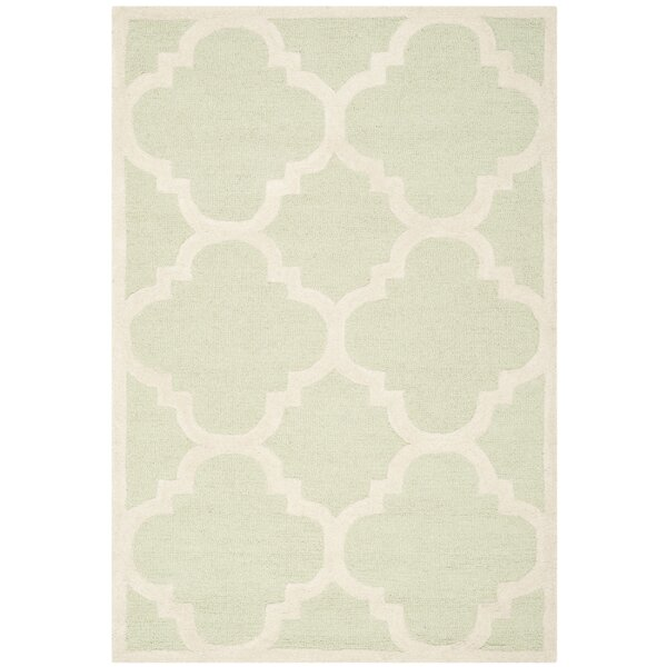 Charlenne Wool Light Green / Ivory Area Rug by Zipcode Design