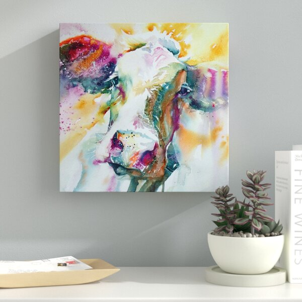 Cow 31 Painting Print on Wrapped Canvas by Latitude Run
