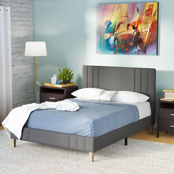 Moniz Upholstered Platform Bed by Wrought Studio