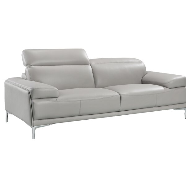 Amazing Karlin Leather Sofa By Orren Ellis Spacial Price | Leather Sofas
