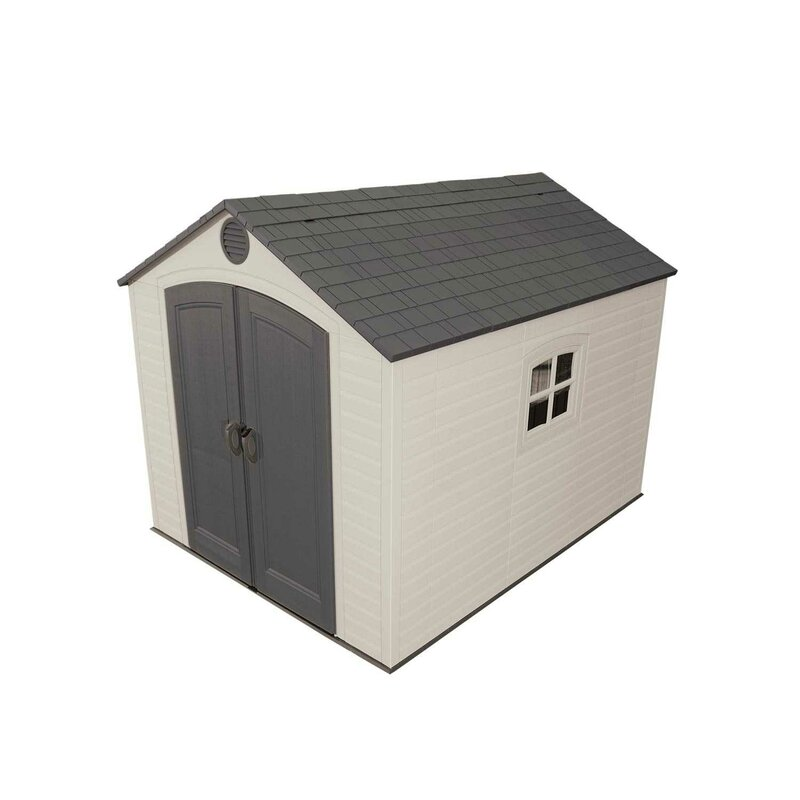 Garden Sheds 7 X 9 lifetime 7 ft. 8 in. w x 9 ft. 8 in. d plastic vertical storage