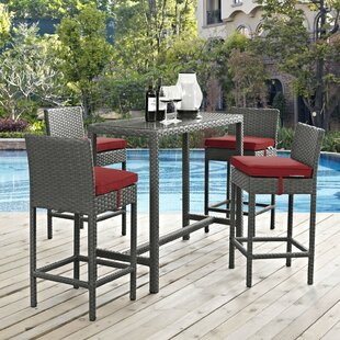 Tripp 5 Piece Bar Height Dining Set with Cushions By Brayden Studio