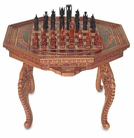 Into Battle Wood Chess Set by Novica