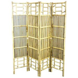 71 X 64 Foldable Bamboo 4 Panel Room Divider