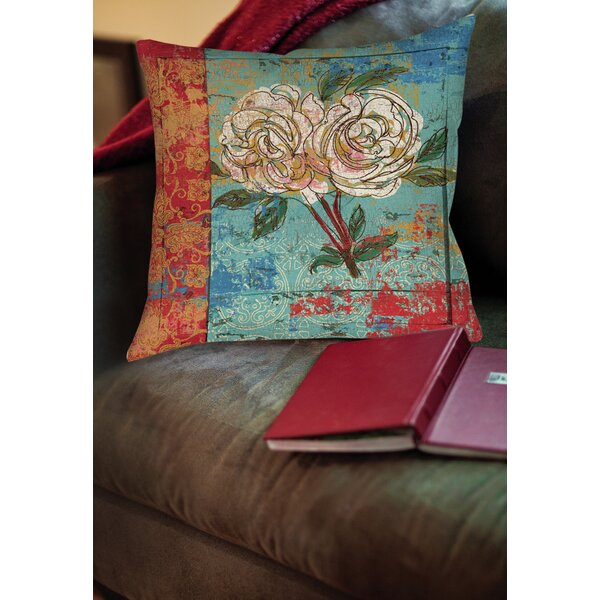 Valencia 1 Printed Throw Pillow by Manual Woodworkers & Weavers