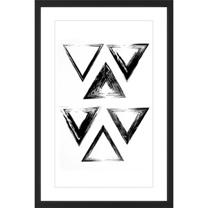 'Interlocking' Framed Painting Print by Marmont Hill