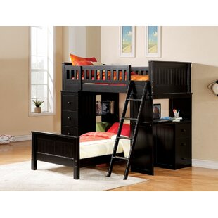 Edgebrooke Twin Over Twin L-Shape Bunk Bed by Harriet Bee