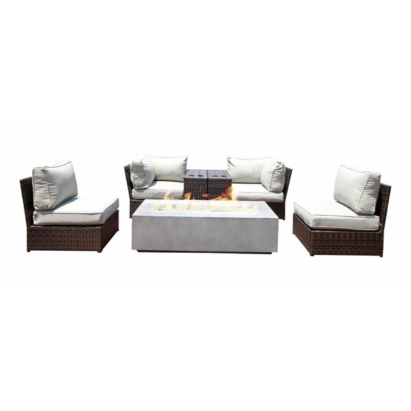 Vasil 7 Piece Sectional Seating Group with Cushions