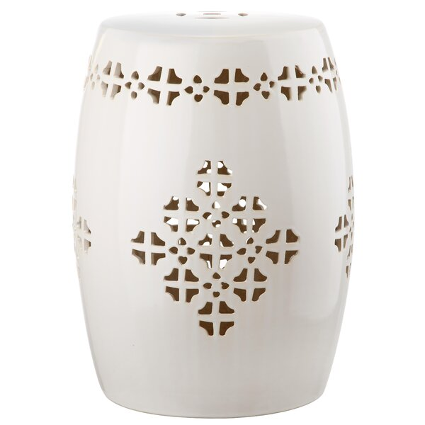 Lorelei Quatrefoil Garden Stool by Beachcrest Home