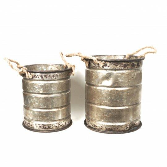 2-Piece Metal Pot Planter Set by Mr. MJs