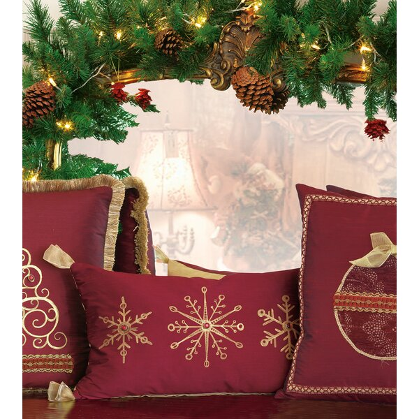 Studio 773 Lifestyle Hand-painted Snowflake Christmas Indoor Throw Pillow by Eastern Accents