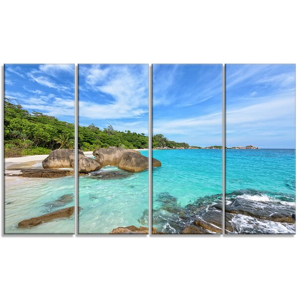 Summer Sea in Thailand - Landscape 4 Piece Photographic Print on Wrapped Canvas Set by Design Art