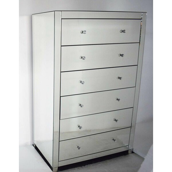 Montecello Mirror Tall Boy 6 Drawer Dresser by Rosdorf Park
