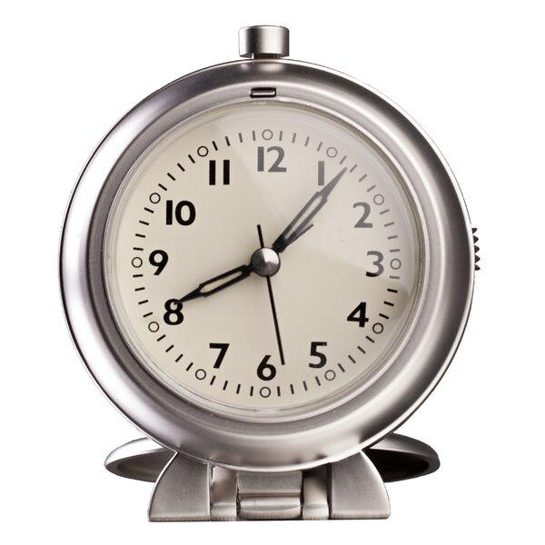 Metal Travel Alarm Tabletop Clock by Control Brand