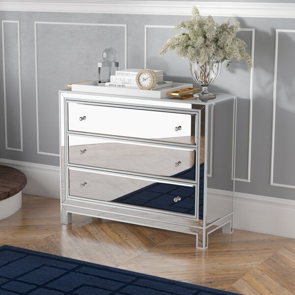 Tracey 3 Drawers Mirrored Accent Chest by Willa Arlo Interiors Willa Arlo Interiors