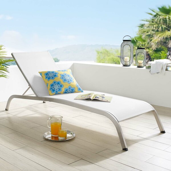 Priestley Outdoor Reclining Chaise Lounge by Orren Ellis Orren Ellis