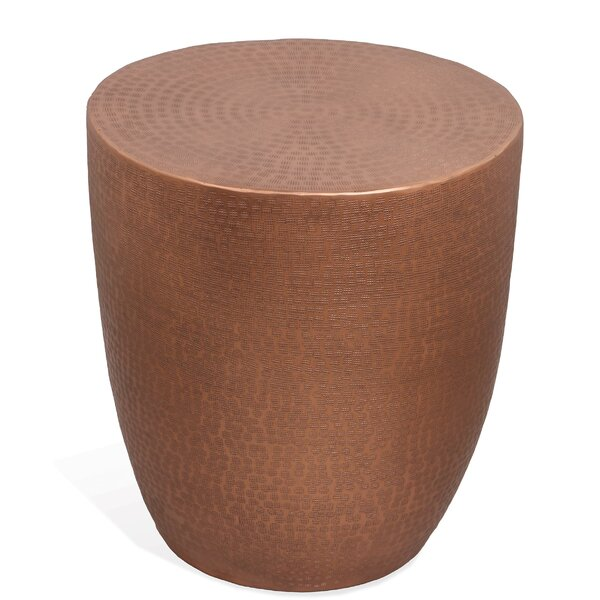 Ayman Drum End Table By World Menagerie