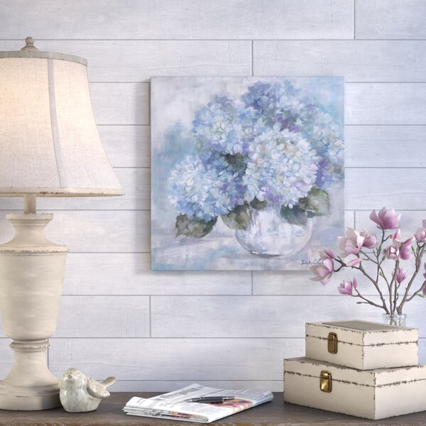 Hydrangea Painting Print on Canvas by August Grove