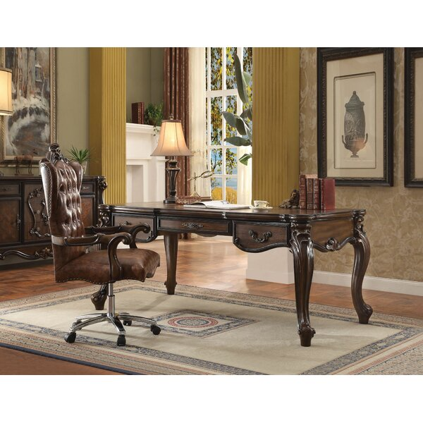 Mallon Executive Desk Set with Hutch and Chair Set by Astoria Grand