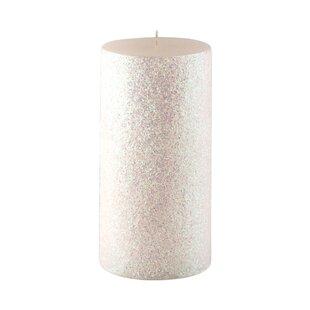 Glitter Pillar Candle Wayfair