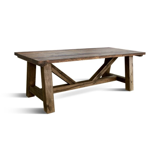 Veronica Solid Wood Dining Table by Loon Peak