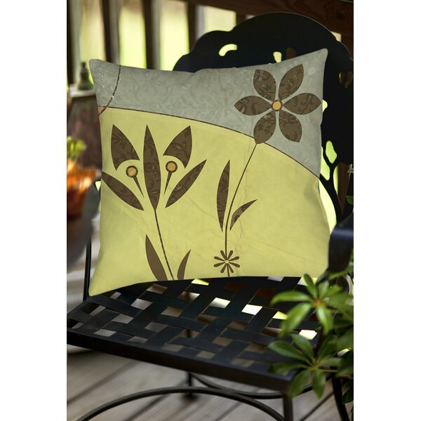 Graphic Garden Selene Indoor/Outdoor Throw Pillow by Manual Woodworkers & Weavers