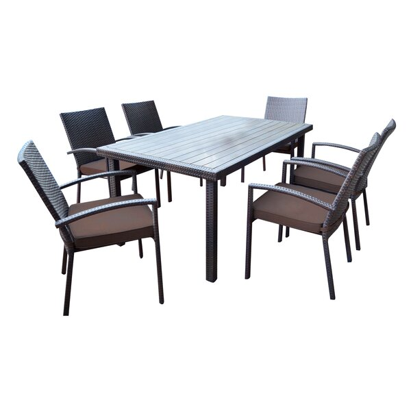 Shull 7 Piece Dining Set with Cushions by Brayden Studio