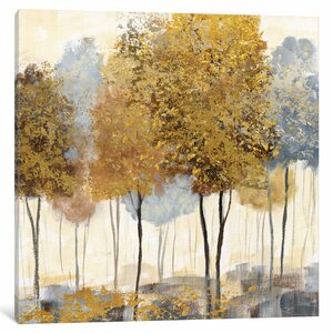 Forest I Painting Print on Wrapped Canvas by Red Barrel Studio