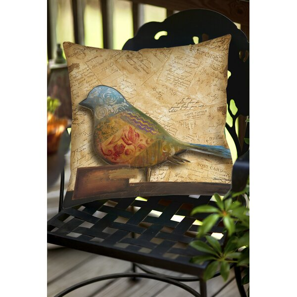 Square Bird Indoor/Outdoor Throw Pillow by East Urban Home