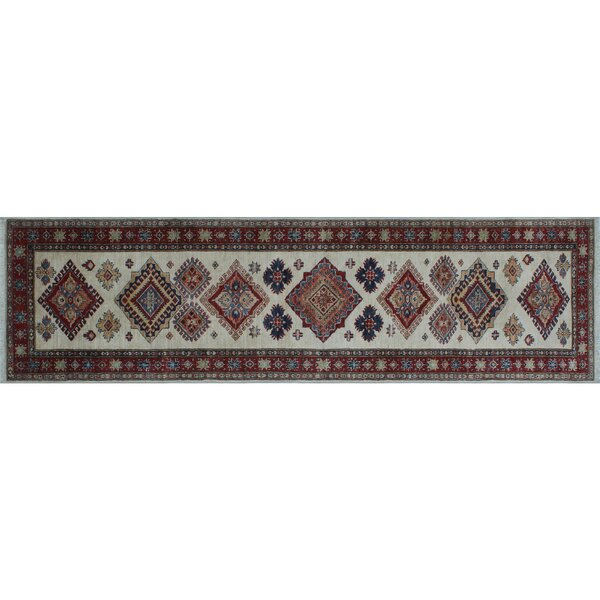 One-of-a-Kind Bronzewood Hand-Knotted Ivory Area Rug by Isabelline
