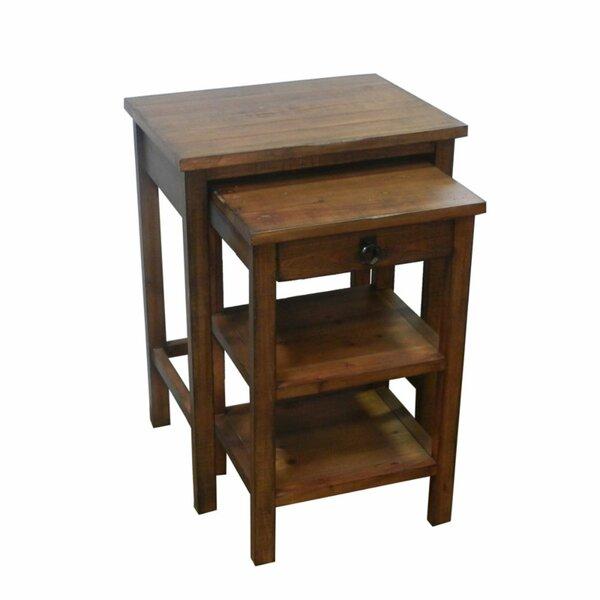 Casurina Stylish Wooden 2 Piece Nesting Table [Loon Peak]