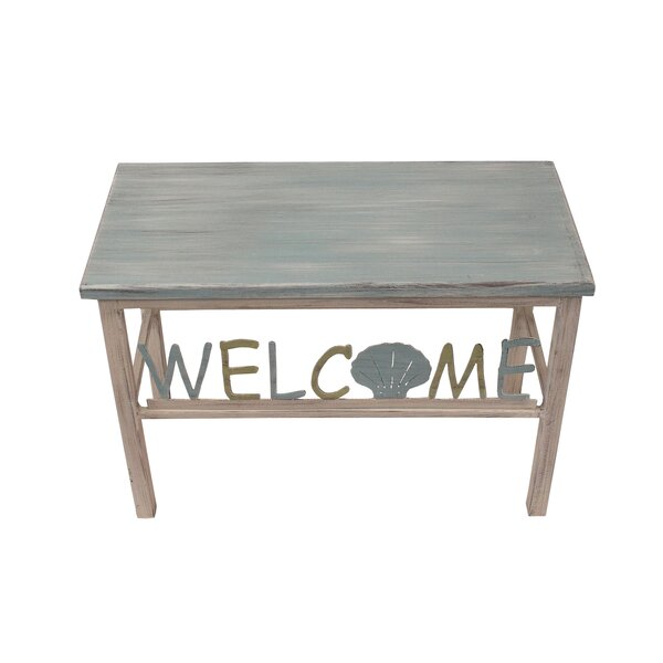 Ishee Welcome/Shell Wood Bench by Highland Dunes