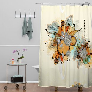 Best Price Herkimer Sunset Shower Curtain ByLatitude Run