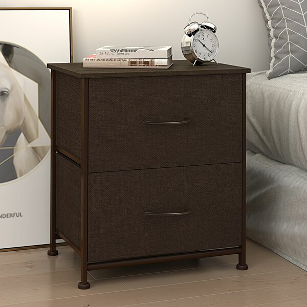 Dresser Fabric Storage Tower Organizer Unit For Bedroom Hallway Entryway Closets Sturdy Steel Frame Wood Top Easy Pull Handle by Symple Stuff