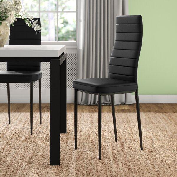Richey Faux Leather Upholstered Metal Side Chair (Set Of 4) By Orren Ellis