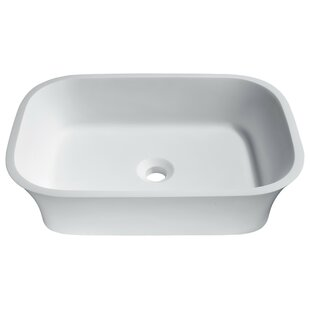 Find for Ajeet Stone Rectangular Vessel Bathroom Sink By ANZZI
