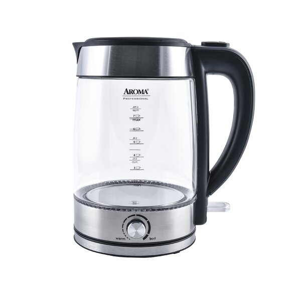 1.8 Qt. Professional Glass Cordless Electric Tea Kettle by Aroma