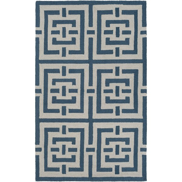Providence Hand-Tufted Blue/White Area Rug by Bay Isle Home