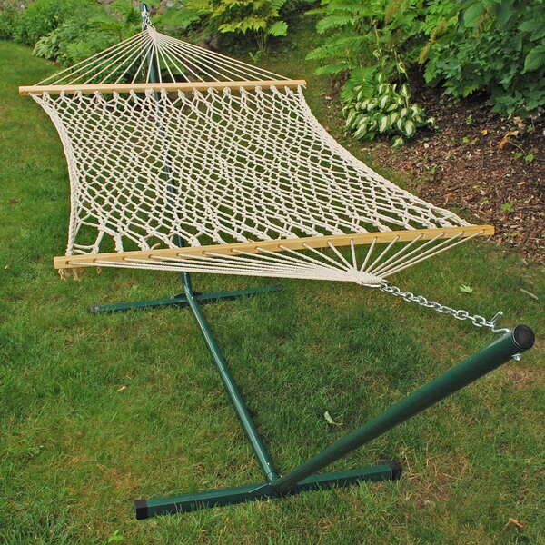 Fernwood Rope Cotton Hammock with Stand by Mistana