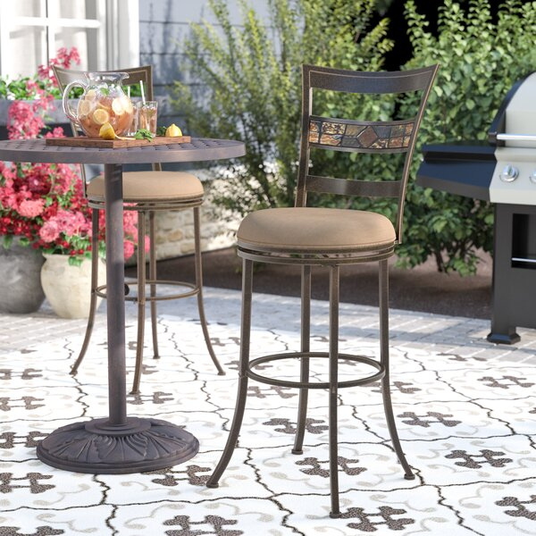 Hoytville 30 Swivel Indoor/Outdoor Patio Bar Stool by Red Barrel Studio